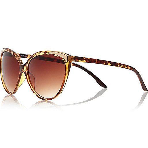 Brown tortoise shell cat eye sunglasses