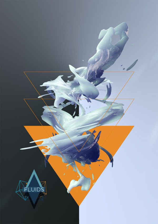 Fluids by Tobias Gallé, via Behance