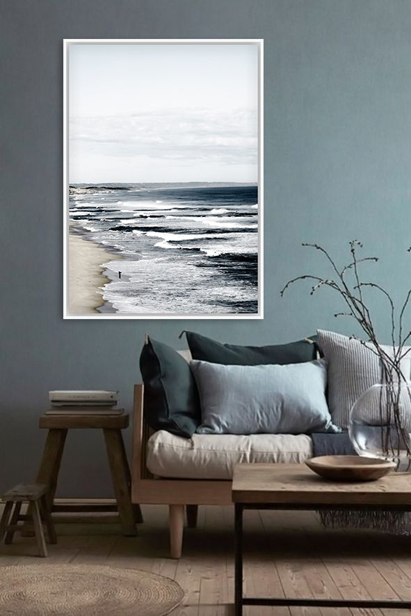 The Back Beach Canvas Print by artist Jeremiah Locke.