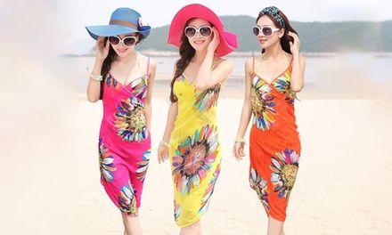 Paréo de plage motif fleurs, 5 coloris au choix dès 11,90€, livraison offerte (jusqu'à 74% de réduction)