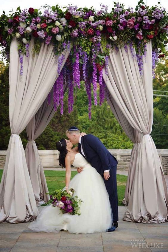 218 best purple wedding ideas images on pinterest lilac wedding featured photographer everlasting moments via wedluxe romantic purple flower detail wedding ceremony decor junglespirit Gallery