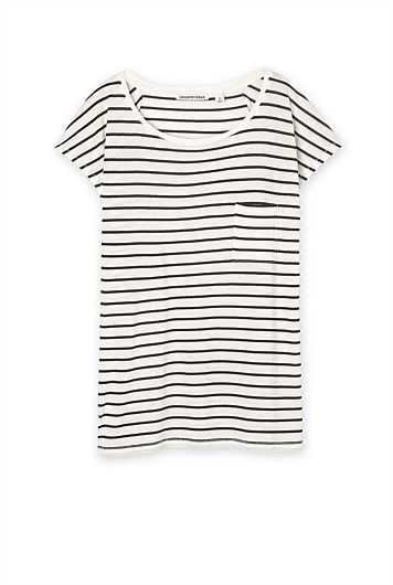 Country Road - Slouchy Stripe Pocket T-Shirt