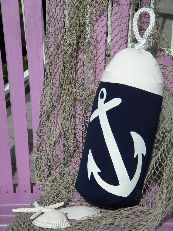 Buoy bumper indooroutdoor anchor pillow fishing by crabbychris, $38.00