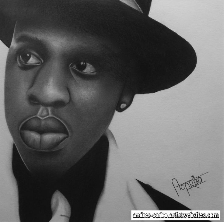 Realism Graphite Drawing of Jay-Z, Original and Museum quality prints available at,  http://andres-carbo.artistwebsites.com/
