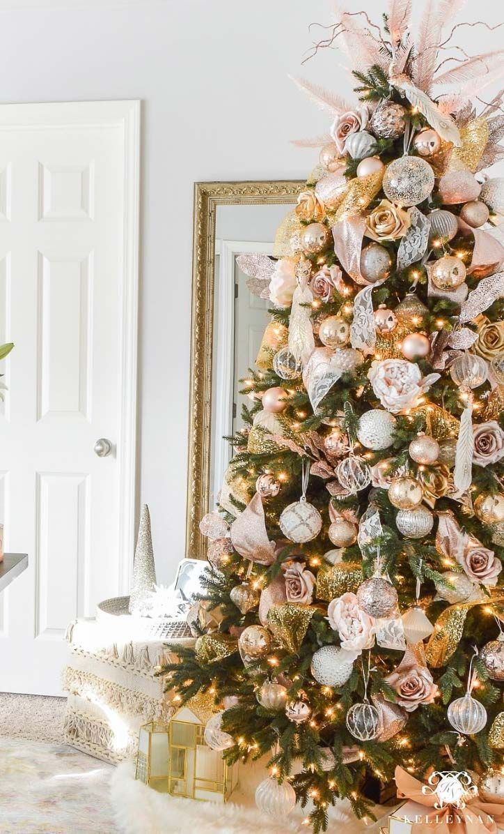 16 Christmas Tree Themes And Christmas Decoration Color Ideas Gold Christmas Tree Pink Christmas Tree