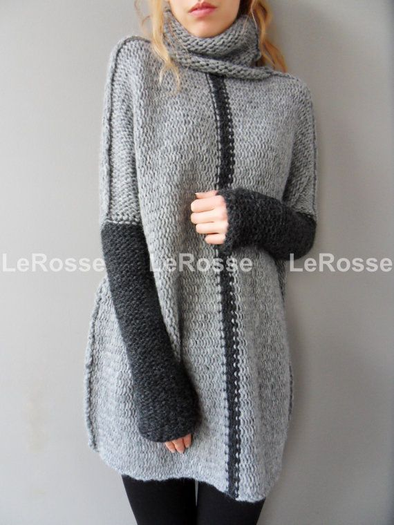 Oversized/Slouchy/Loose knit sweater. Aplaca sweater. от LeRosse