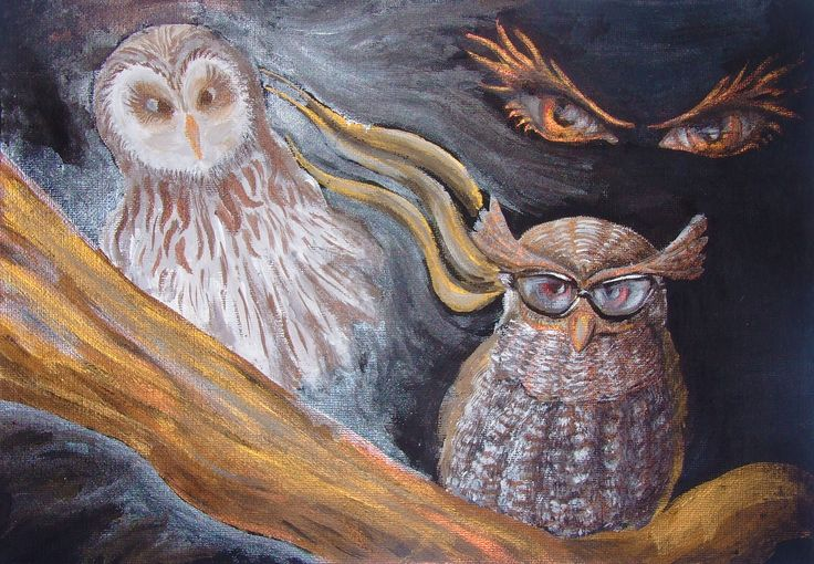 """Wisdom Muse"" acrylic paint on canvas"