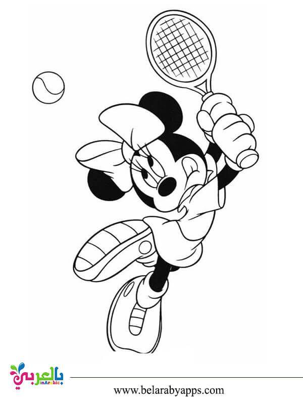 رسومات شخصيات ديزني للتلوين ميكي ماوس بندق بطوط بالعربي نتعلم Minnie Mouse Coloring Pages Mouse Color Minnie Mouse