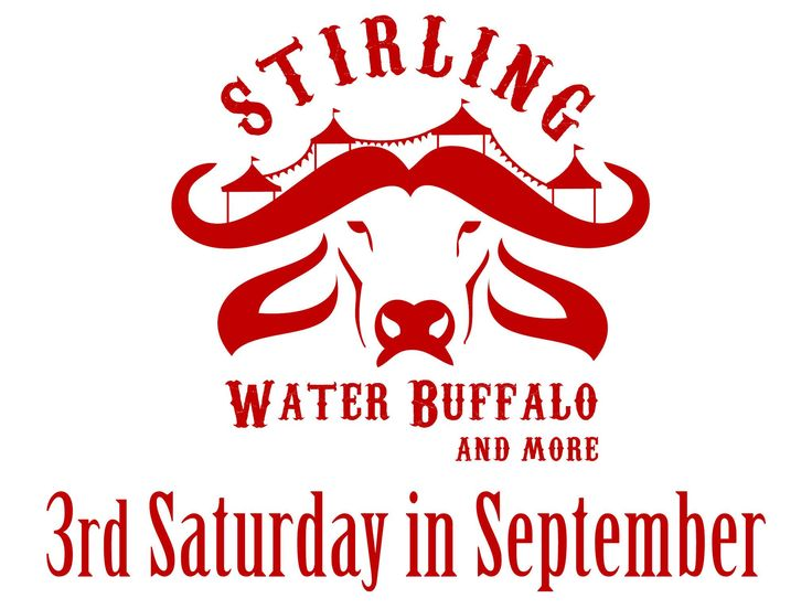 Stirling Water Buffalo Festival! Saturday, September 19th from 11- 4pm