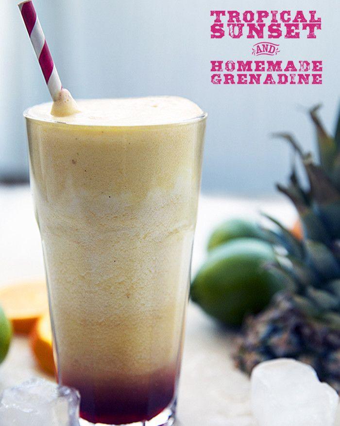 Tropical Sunset + Homemade Grenadine | lynseylovesfood