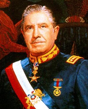 Presidente de la República de Chile Augusto Pinochet Ugarte (1973-1990)...Mediante la toma de la Casa de la Moneda por las armas, el general Augusto Pinochet salvó a Chile del marxismo. Fue removido de sus funciones como presidente, por medio de un plebiscito democrático.
