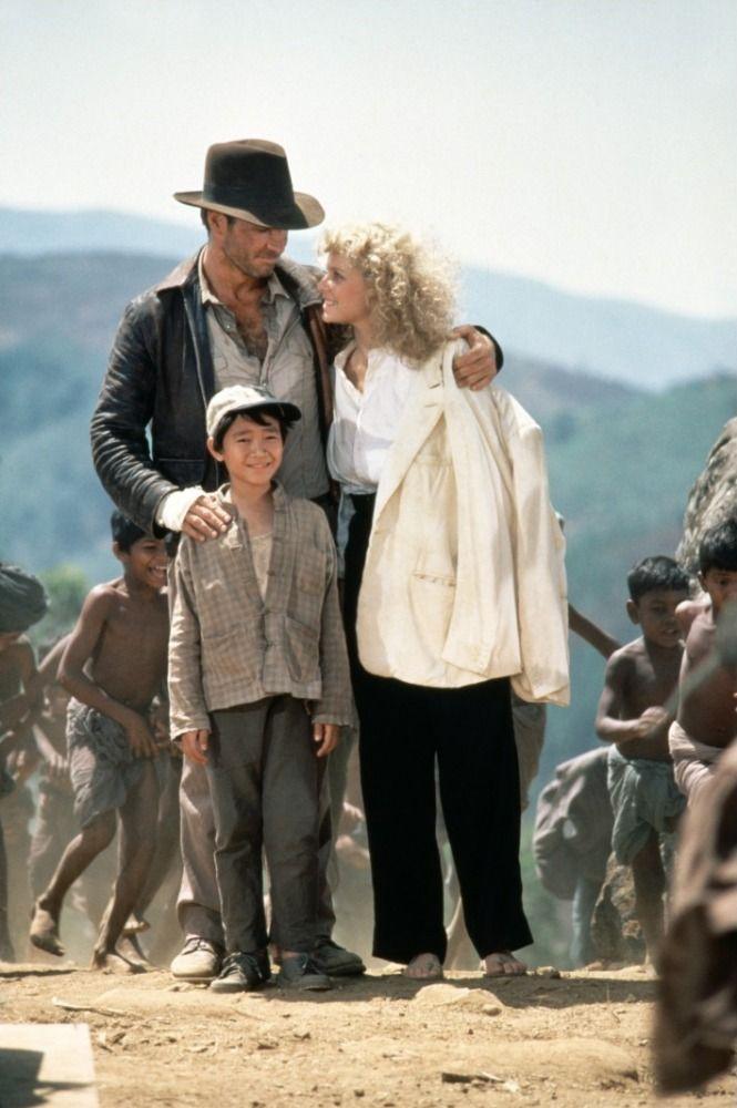 Indiana Jones and the Temple of Doom (1984) - Jonathan Ke Quan, Kate Capshaw & Harrison Ford