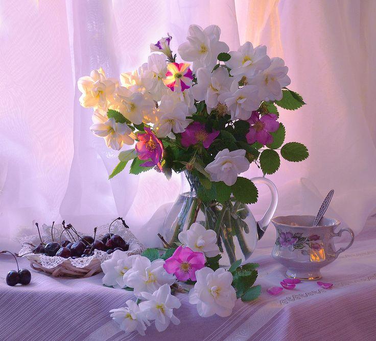 Красивые фото цветов доброго утра молитвы для