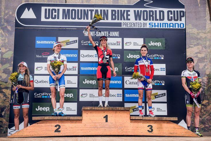 Jolanda Neff wins the 2015 Mont-Sainte-Anne cross country MTB world cup - via Neff the unstoppable: Women's XCO race highlights   Red Bull Bike 1. Jolanda Neff (Swi) Stoeckli Pro Team, 1:28:15 2. Catharine Pendrel (Can) Luna Pro Team, + 00:34 3. Pauline Ferrand-Prévot (Fra) Rabo-Liv, + 01:09 4. Emily Batty (Can) Trek, + 01:56 5. Gunn-Rita Dahle Flesjåa (Nor) Multivan Merida, + 02:22 6. Lea Davison (Can) Specialized, + 03:05 7. Katerina Nash (Cze) Luna Pro Team, + 03:18 8. Irina Kalentyeva…