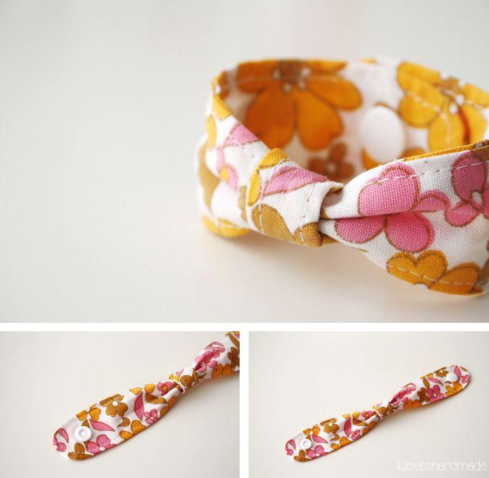 5 things to do with KAMSnaps - DIY: Easy fabric bracelet via Luloveshandmade.blogspot.com featuring @Snaply Nähkram Nähkram Nähkram