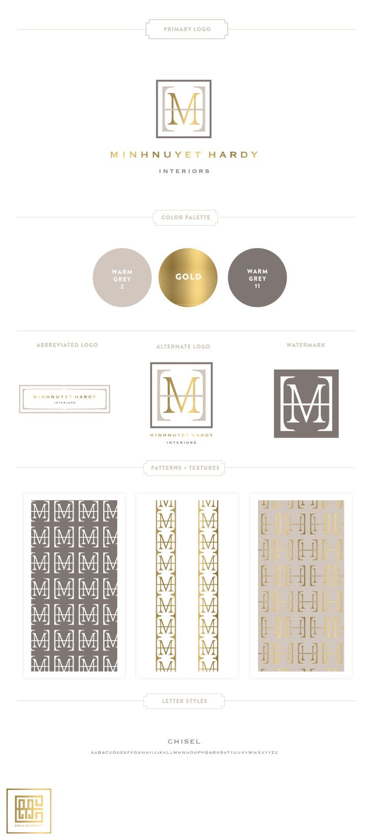 Soothing Website Brand Colors by Emily McCarthy