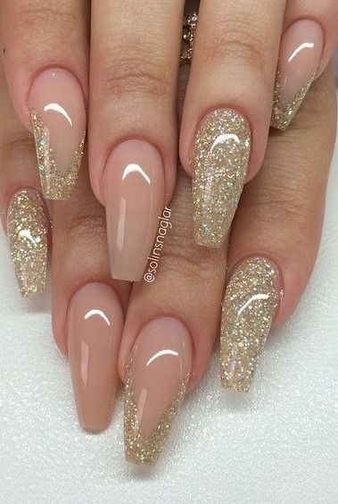 Natural and gold glitter