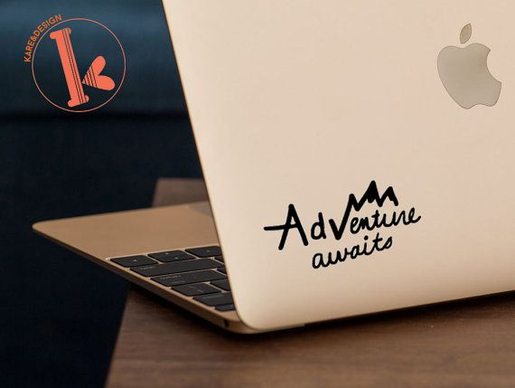 Adventure awaits vinyl decal sticker laptop by kareanddesign