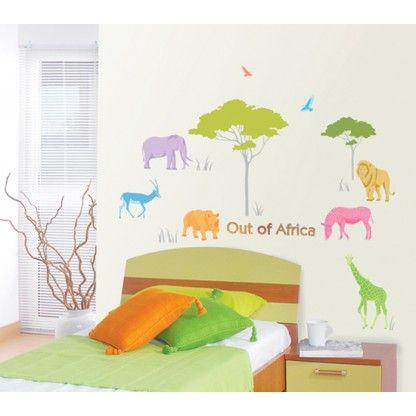 6 Animals in Safari Wall Stickers