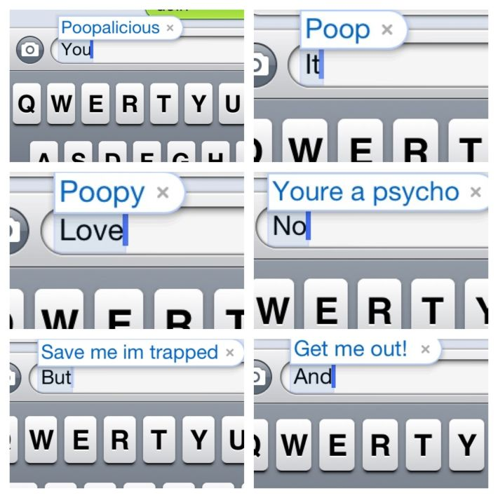 Hilarious April Fools Day Prank...go to settings>general>keyboard>shortcuts and get creative!