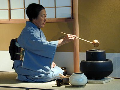 Michiko Nojiri Sensei. I practised tea ceremony with Nojiri Sensei in Rome.