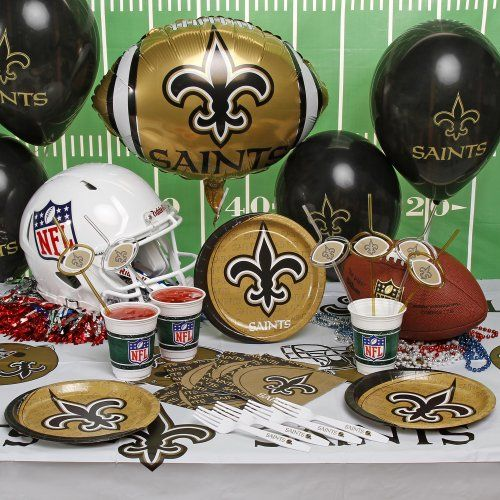 Fleur De Lis logo NFL New Orleans Saints Party Kit (88-Piece)