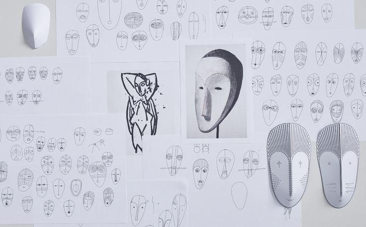 Salone del Mobile preparations. In a playful approach to show textiles in a new and expressive way, design duo GamFratesi created the whimsical installation MASK.