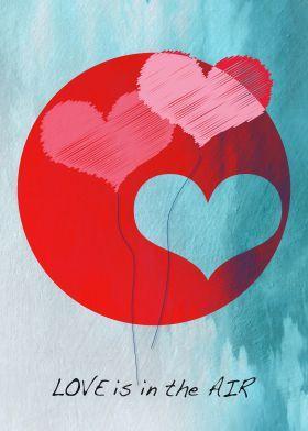 Love is in the Air - #print #love #homedecor #wallart #design