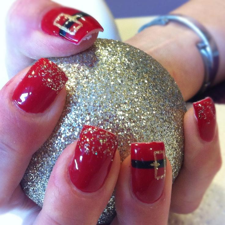 Sexy Santa nails