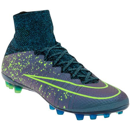 REVOLUTION OF SPEED Designed for the attacking striker, the Nike Mercurial Superfly Men's Artificial-Grass Soccer Cleat offers a revolutionary locked-down fit, barefoot feel and lightweight carbon-fiber plate for explosive speed. #wegotsoccer #nike #superfly #electro #flare #soccer #boots