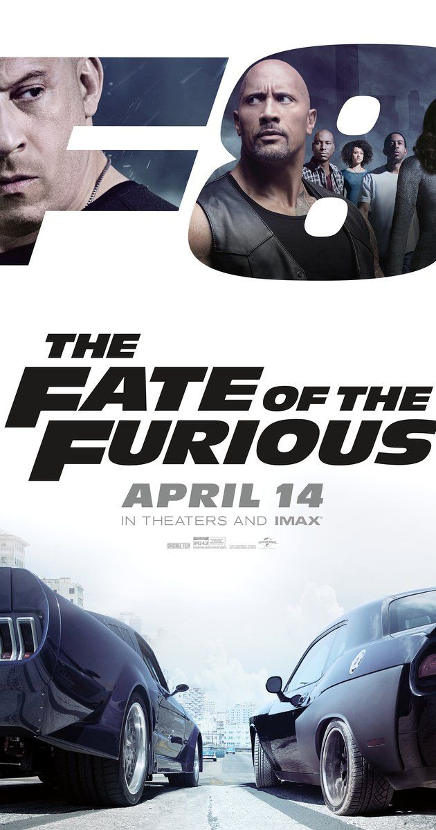 Directed by F. Gary Gray.  With Dwayne Johnson, Charlize Theron, Scott Eastwood, Vin Diesel. When a mysterious woman seduces Dom into the world of crime and a betrayal of those closest to him, the crew face trials that will test them as never before.