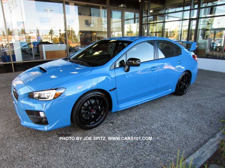 "2016 Subaru WRX STI  Series.HyperBlue. Only 700 Series.HyperBlue models will be made, all hyperblue color, BBS black 18"" alloys, black STI fender logo, gloss black outisde mirrors..."