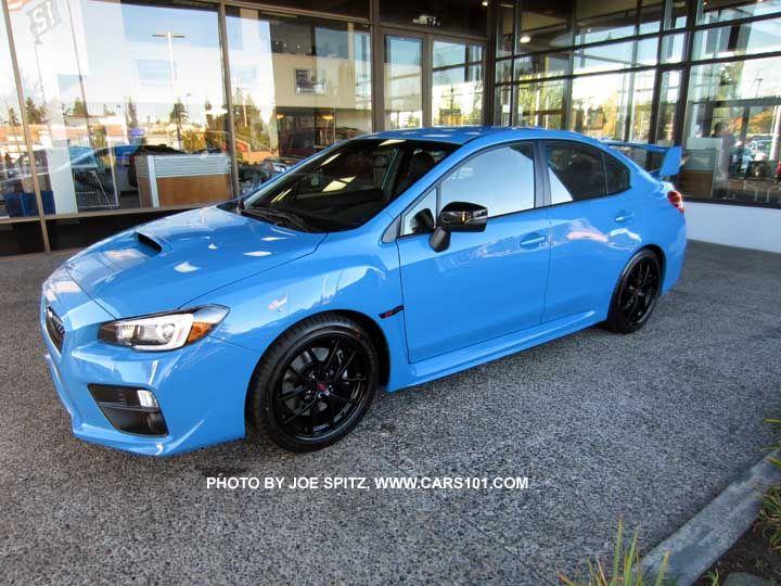 "2016 Subaru WRX STI  Series.HyperBlue. Only 700 Series.HyperBlue models will be made, all hyperblue color, BBS black 18"" alloys, black STI fender logo, gloss black outisde mirrors..."