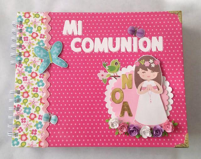 álbum primera comunión #scrapbooking #recuerdos #craft #scrap #manualidades…