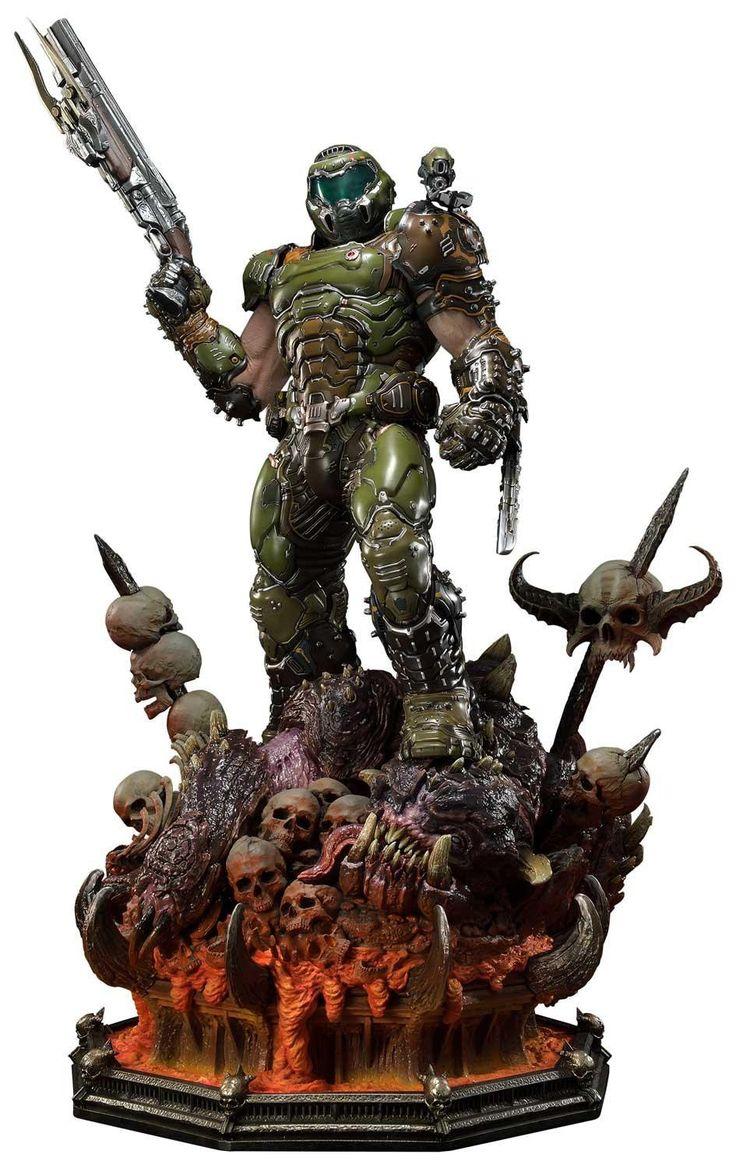 Doom eternal doom slayer 43 premium statue