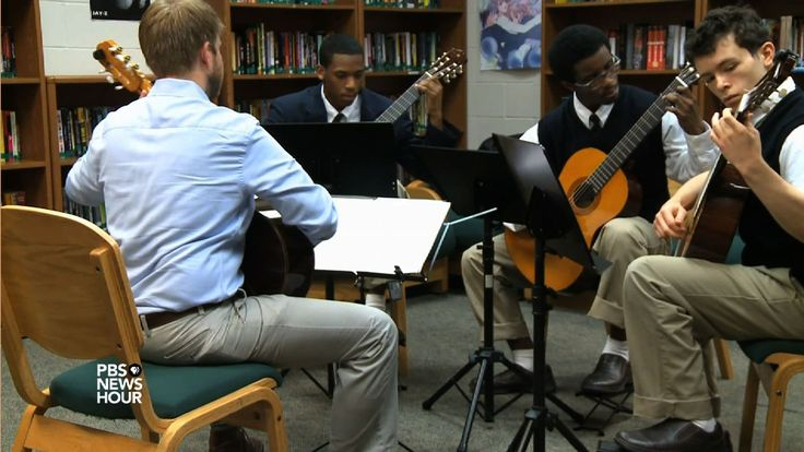 In Texas, a nonprofit partners with a juvenile justice center to help students finish their high school education by learning classical guitar. Student Reporting Labs special correspondent Kennedy Huff reports for KLRU in Austin.