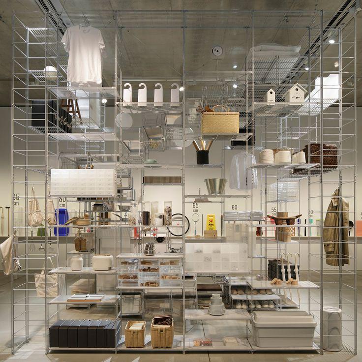 Muji Shelving Units Combine To Create A Living Space In Fumihiko Sanou0027s  Installation (Dezeen)