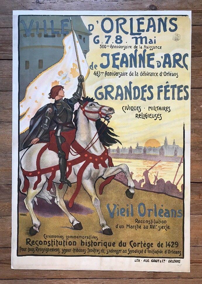 Affiches Orléans Jeanne d'Arc  500 ème Anniversaire 1913