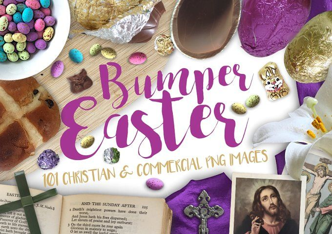 Bumper Easter Pack - 101 PNG images by MyCosmicShop on @creativemarket