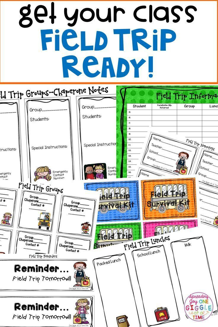 This kit is packed with everything you will need to keep yourself relaxed and organized during your class field trip! Included are: directions on how to make chaperone field trip survival kits survival kit tags student nametags field trip reminders group sorting sheet chaperone notes field trip lunch record page field trip information checklist
