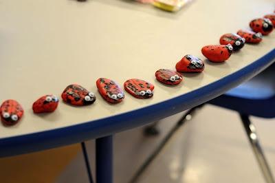ladybug rocks and other kindergarten ideas