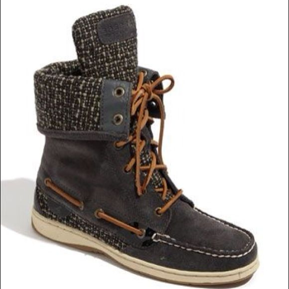 Sperry high top boots Brown Leather high top boots Sperry Top-Sider Shoes Ankle Boots & Booties