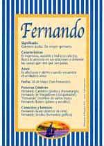 Origen y significado de Fernando