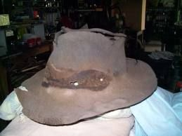 One of our oldest Australian icons, the Akubra hat has been around since 1874. Akubra is Aboriginal for 'head covering,' and is made from rabbit fur felt. It can take up to 14 bunnies to make one hat! This is an Aussie icon still under Australian ownership.and so proud that I now own one!!!