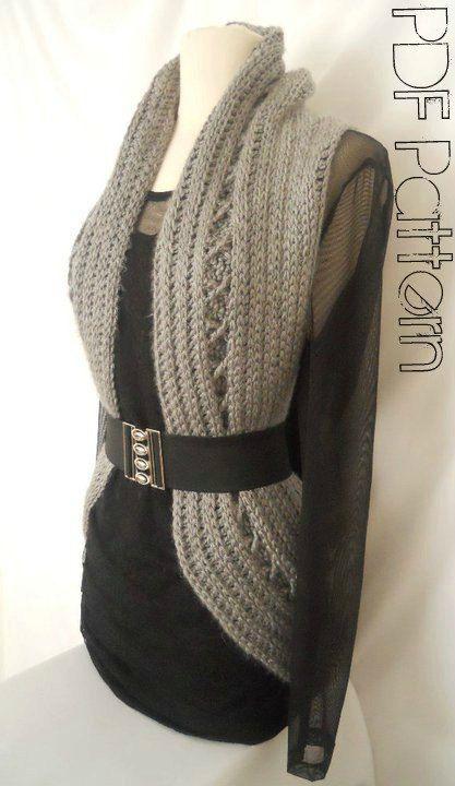 cross body purses Aurora Vest Free Crochet Pattern   Free Crochet Patterns  amp  Free