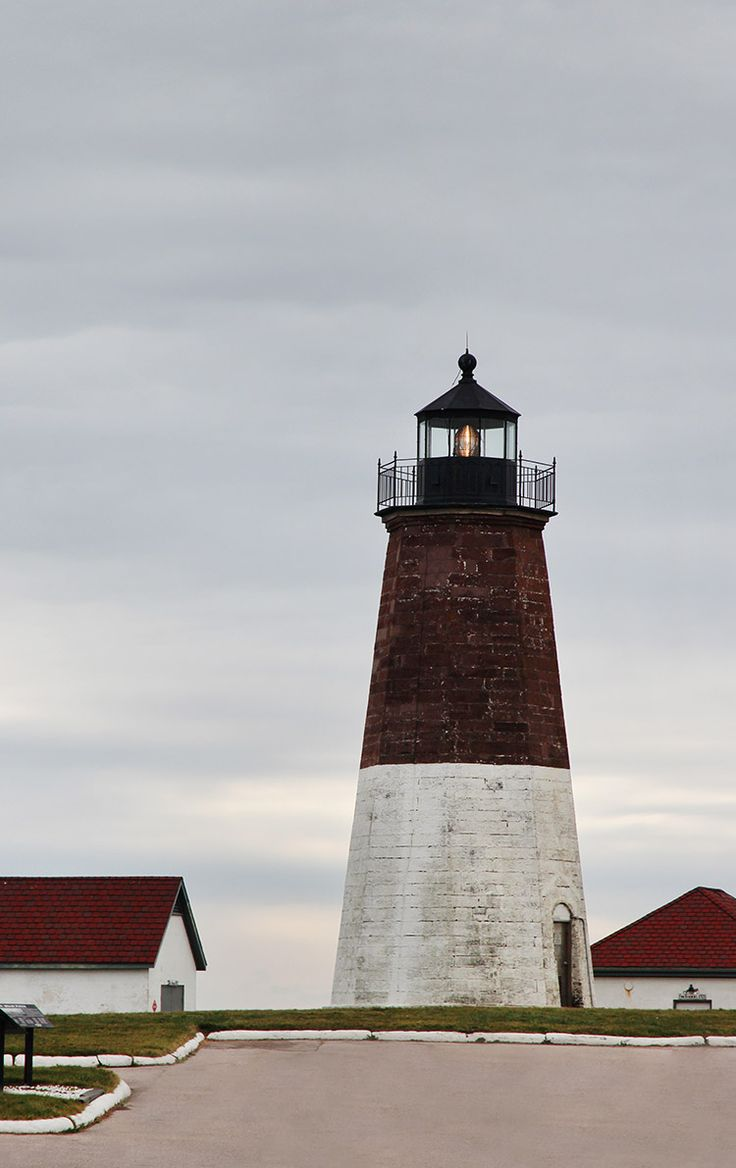 Lighthouse in Narragansett, RI. Click through for our Rhode Island guide on Road Trippin' The States