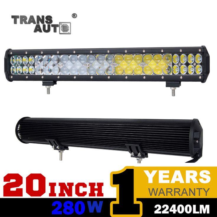 20 INCH 280W DRL Flood Spot Combo Led Light Bar Off Road 4*4 SUV Led Work Driving Lamp Led Bar for Car Boat ATV