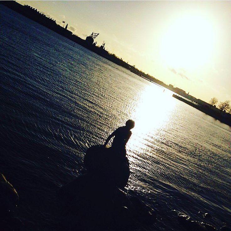 On instagram by bauldesandra #landscape #contratahotel (o) http://ift.tt/1SgdBAo sobre la tierra varada a orillas del mar solita se ve a una sirena.  Dicen que es una estrella del mar con las escamas de bronce los dientes de marfil y la melena de plata.  Que hacía castillos de arena soñando con ser humana.  Que el tiempo tiñó de nieve su pelo esperando a ser amada.  Perdida sobre la tierra solita a la orilla del mar se ve a la sirena varada. . #bauldesandra #sirenavarada #sirena #sirenita…
