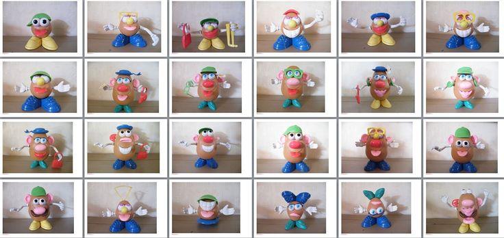 fiches modèles pour jeu Mr Patate (Mr Potato)