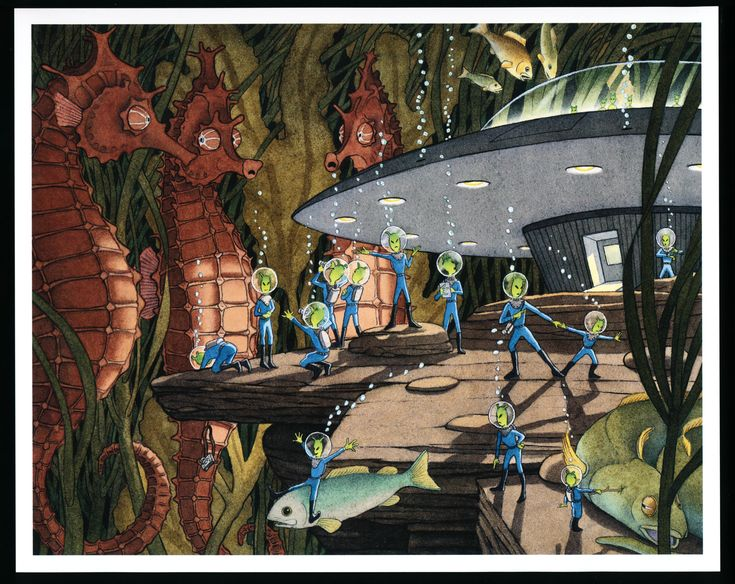 16 best david wiesner images on pinterest childrens books kid page 21 big double spread of aliens underwater spaceship and tall sea horses fandeluxe Images